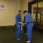 Antwuane promoted to 2 stripe white belt.