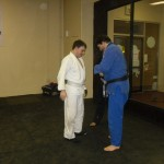 Bert promoted to 2 stripe white belt.