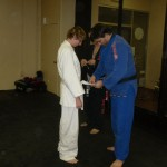 Chris promoted to 4 stripe white belt.