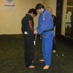 Jordan receiving his blue belt.