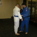 Jose receiving his blue belt.